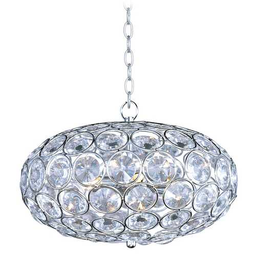 ET2 Lighting Modern Pendant Light in Polished Chrome Finish E24011-20PC