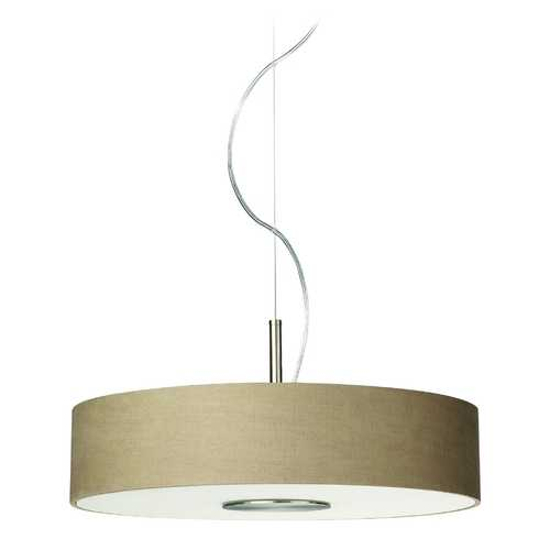 Philips Lighting Modern Drum Pendant Lights in Matte Chrome Finish 374801748