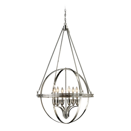Elk Lighting Modern Pendant Light in Polished Nickel Finish 10193/6