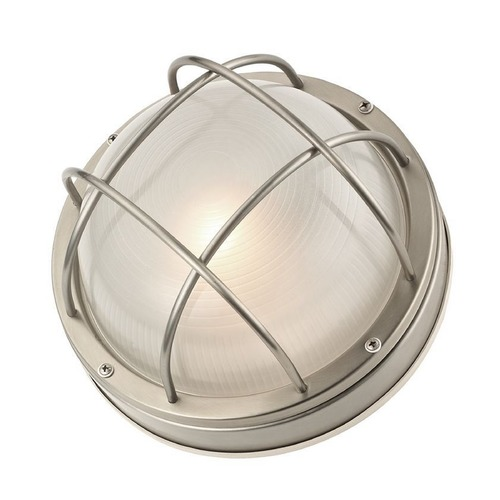 Design Classics Lighting Bulkhead Marine Light with LED Bulb - 10-Inches Wide 39556 SS LED