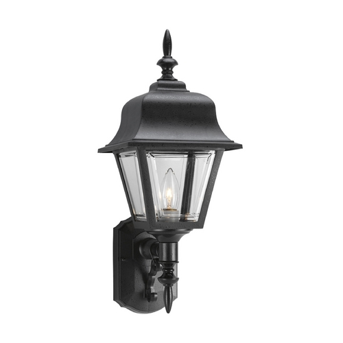Progress Lighting Progress Outdoor Wall Light with Clear in Black Finish P5656-31