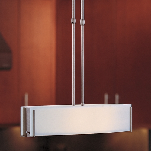 Hubbardton Forge Lighting Hubbardton Forge Lighting Intersections Dark Smoke Island Light with Rectangle Shade 137605-SKT-STND-07-ZB0164