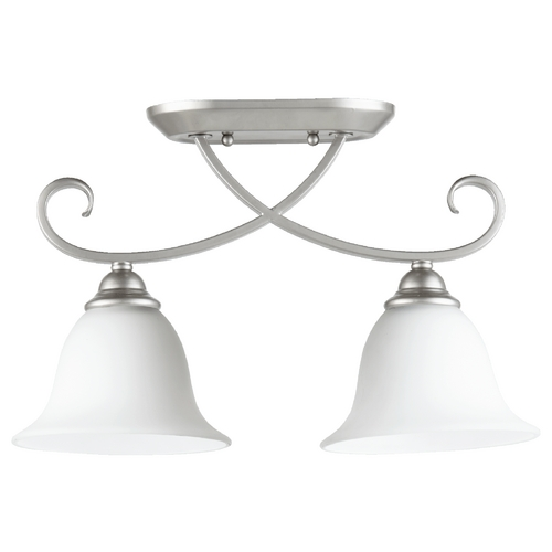 Quorum Lighting Quorum Lighting Celesta Classic Nickel Semi-Flushmount Light 3253-2-64