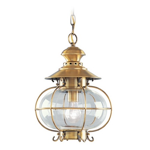 Livex Lighting Livex Lighting Harbor Flemish Brass Outdoor Hanging Light 2225-22