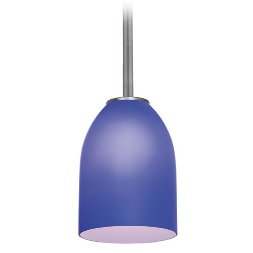 Access Lighting Access Lighting Bordeaux Brushed Steel LED Mini-Pendant Light with Bowl / Dome Shade 28018-3R-BS/COB