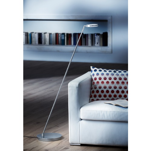Holtkoetter Lighting Glanz Brushed Aluminum LED Swing Arm Lamp 9655LEDBA