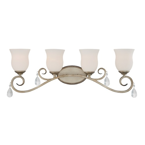 Designers Fountain Lighting Designers Fountain Gala Argent Silver Bathroom Light 86004-ARS