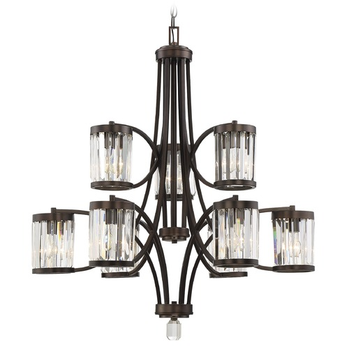 Savoy House Savoy House Lighting Nora Burnished Bronze Chandelier 1-4061-9-28