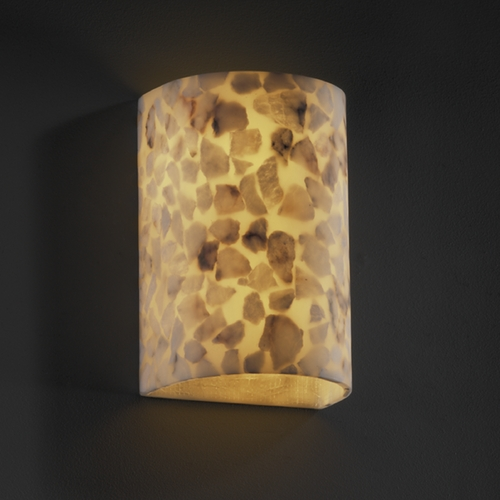 Justice Design Group Justice Design Group Alabaster Rocks! Collection Sconce ALR-0945