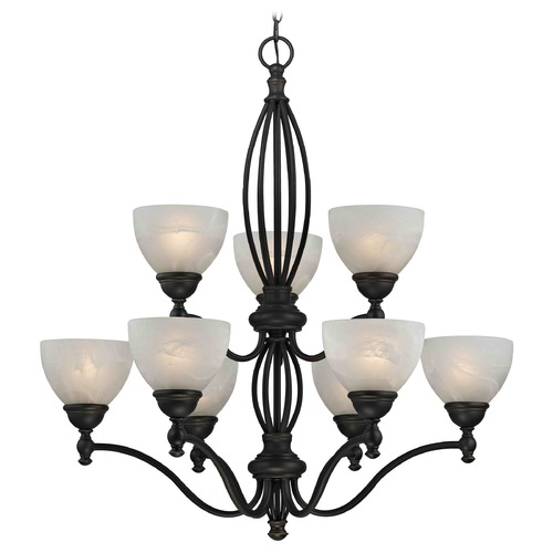 Design Classics Lighting Alabaster Glass Traditional Chandelier - Bolivian Finish 2922-78 GL1033-ALB