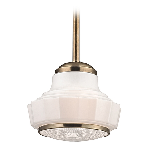 Hudson Valley Lighting Hudson Valley Lighting Odessa Aged Brass Pendant Light 3814-AGB