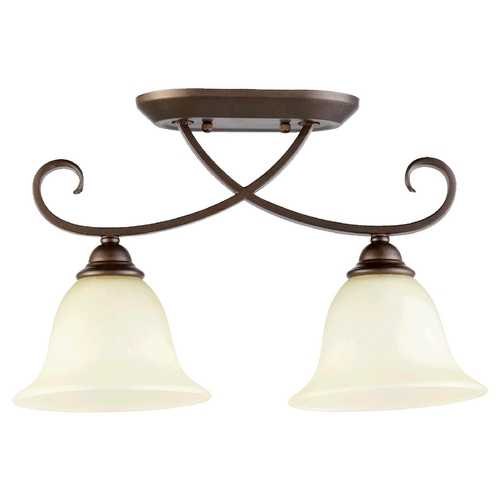 Quorum Lighting Quorum Lighting Celesta Oiled Bronze Semi-Flushmount Light 3253-2-86