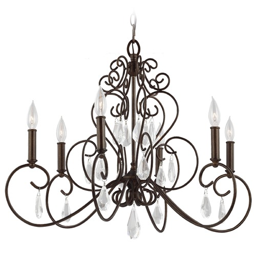 Feiss Lighting Feiss Lighting Angelette Bonnieaux Bronze Chandelier F3042/6BNB