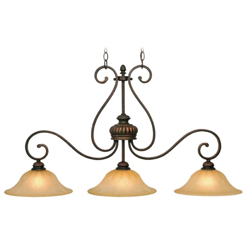 Golden Lighting Golden Lighting Mayfair Leather Crackle Island Light 7116-10 LC