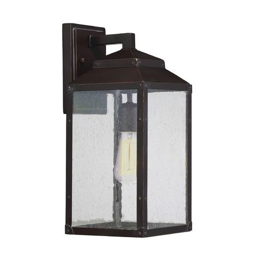 Savoy House Seeded Glass Outdoor Wall Light Bronze Savoy House 5-341-213