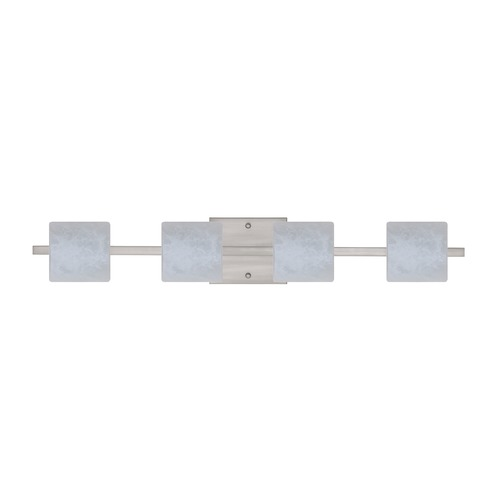 Besa Lighting Besa Lighting Paolo Satin Nickel LED Bathroom Light 4WS-787319-LED-SN