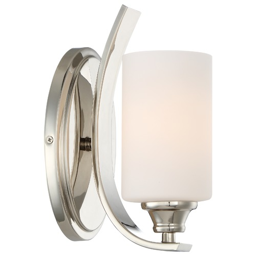 Minka Lavery Minka Tilbury Polished Nickel Sconce 3981-613