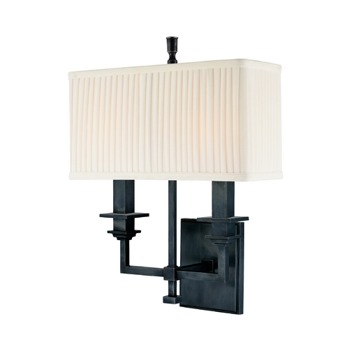 Hudson Valley Lighting Sconce Wall Light with White Shades in Old Bronze Finish 242-OB