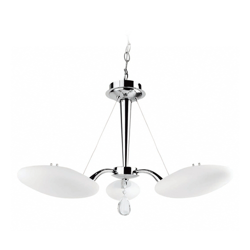 Lite Source Lighting Lite Source Lighting Rey Chrome Pendant Light with Oval Shade LS-19383C/FRO