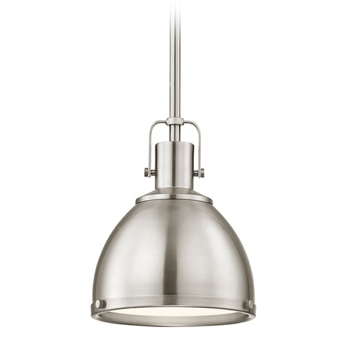 Design Classics Lighting Nautical Satin Nickel Small Pendant Light 7.38-Inch Wide 1762-09 SH1775-09