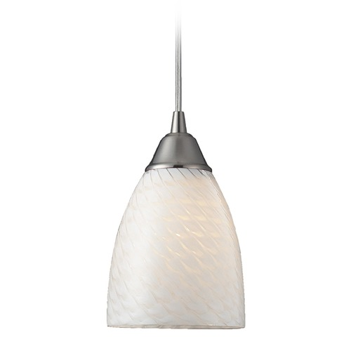 Elk Lighting Elk Lighting Arco Baleno Satin Nickel Mini-Pendant Light with Bowl / Dome Shade 416-1WS-LA