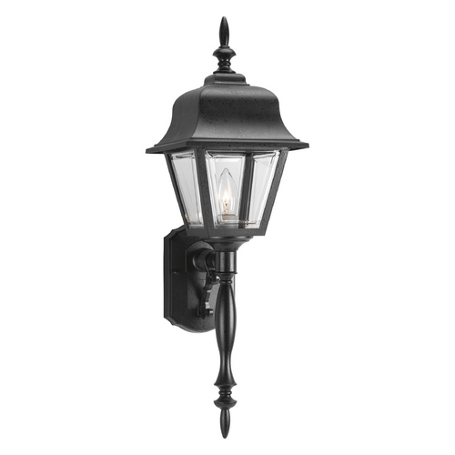 Progress Lighting Progress Outdoor Wall Light with Clear in Black Finish P5657-31