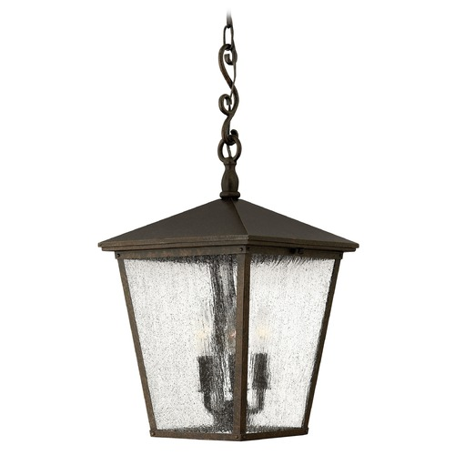 Hinkley Lighting Outdoor Hanging Light with Clear Glass in Regency Bronze Finish 1432RB