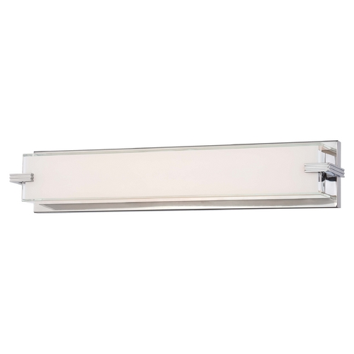 George Kovacs Lighting Cubism Chrome LED Bathroom Light - Vertical or Horizontal Mounting P5216-077-L