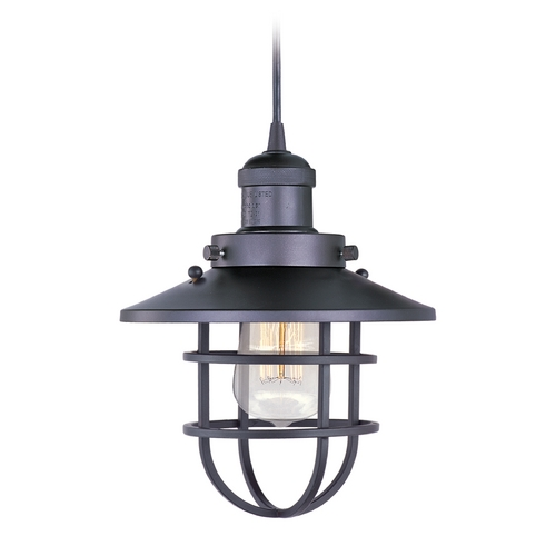 Maxim Lighting Maxim Lighting Mini Hi-Bay Bronze Mini-Pendant Light with Coolie Shade 25030BZ