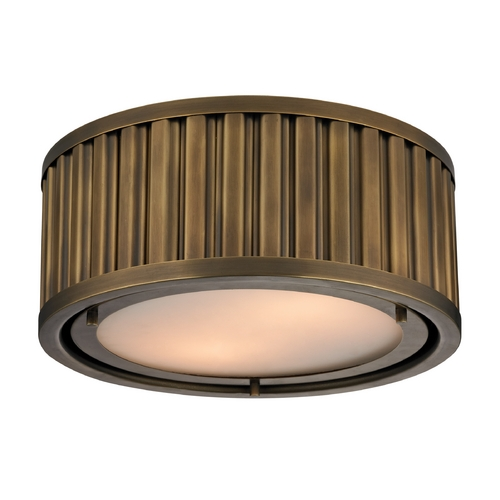 Elk Lighting LED Flushmount Light in Aged Brass Finish 46120/2-LED