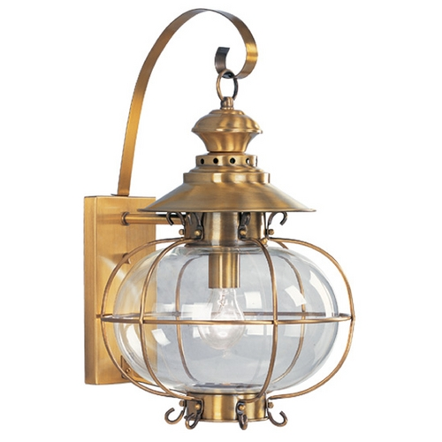 Livex Lighting Livex Lighting Harbor Flemish Brass Outdoor Wall Light 2223-22