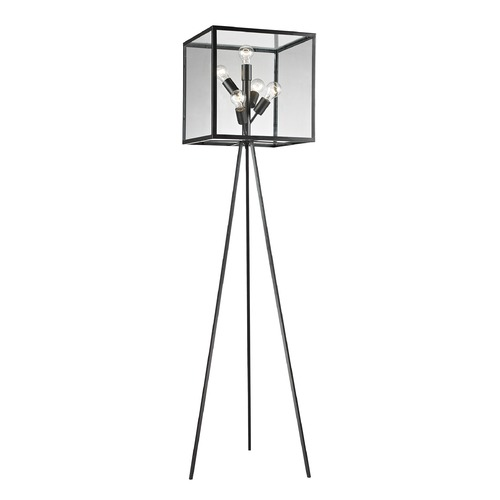 Dimond Lighting Dimond Lighting Aged Bronze Floor Lamp with Square Shade D2657