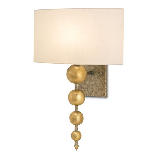 Currey and Company Lighting Currey and Company Lighting Stillman Antique Gold Leaf / Pyrite Bronze Sconce 5175