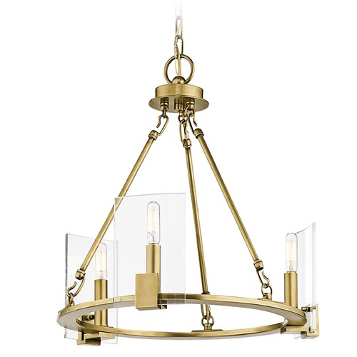 Kichler Lighting Kichler Lighting Signata Natural Brass Mini-Chandelier 43700NBR