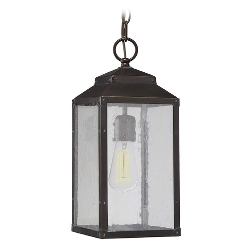 Savoy House Seeded Glass Outdoor Hanging Light Bronze Savoy House 5-342-213