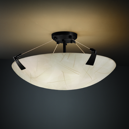 Justice Design Group Justice Design Group Tapered Clips Family Matte Black Semi-Flushmount Light 3FRM-9632-35-LEAF-MBLK