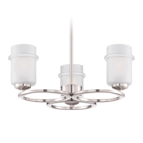 Designers Fountain Lighting Designers Fountain Omega Satin Platinum Chandelier 86683-SP