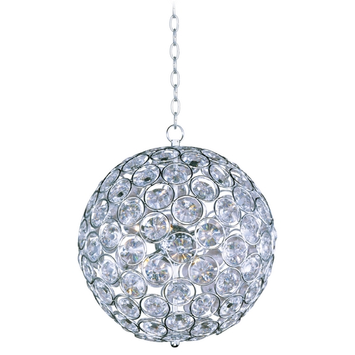 ET2 Lighting Modern Pendant Light in Polished Chrome Finish E24016-20PC