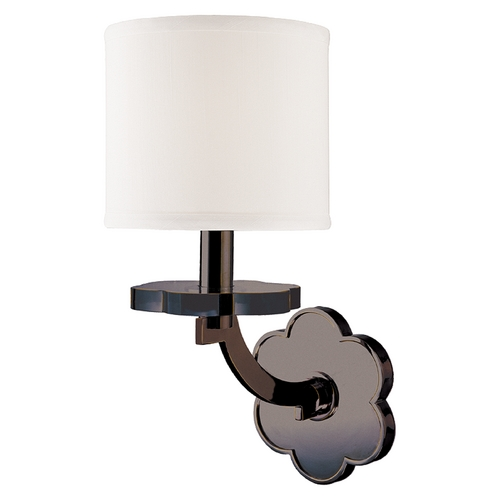 Hudson Valley Lighting Modern Sconce Wall Light with White Shade in Old Bronze Finish 1421-OB
