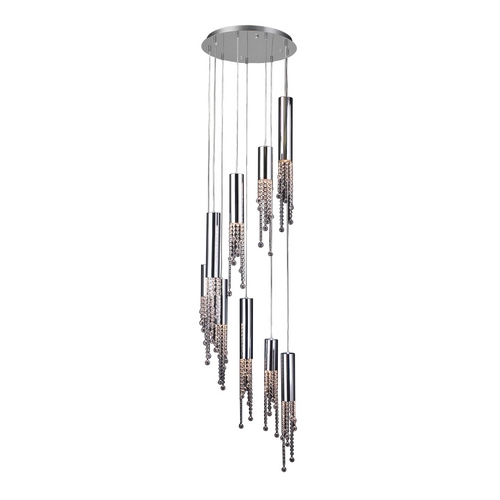 PLC Lighting Modern Multi-Light Pendant Light 9-Lights 81746 PC