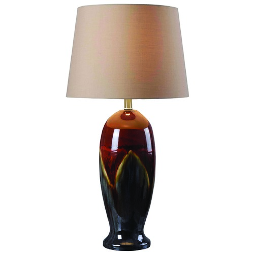 Kenroy Home Lighting Table Lamp with Gold Shade in Ceramic Glaze Finish 32147CG