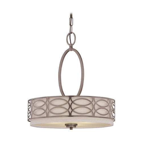 Nuvo Lighting Modern Drum Pendant Lights in Hazel Bronze Finish 60/4720