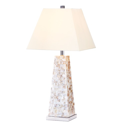 Ashford Classics Lighting Pillar Table Lamp with Pyramid Base and Beige Shade 2283