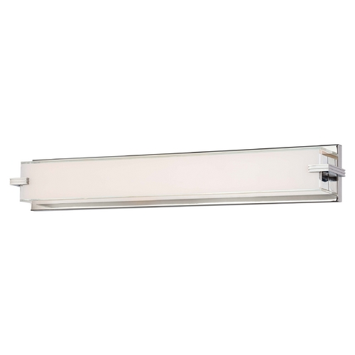 George Kovacs Lighting Cubism Chrome LED Bathroom Light - Vertical or Horizontal Mounting P5217-077-L
