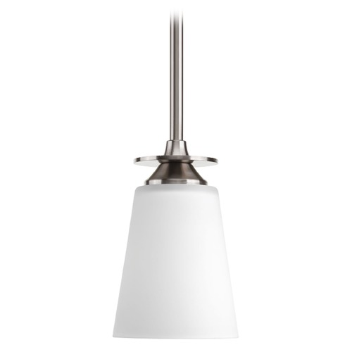 Progress Lighting Progress Lighting Cantata Brushed Nickel Mini-Pendant Light with Cylindrical Shade P5139-09