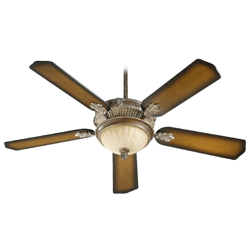 Quorum Lighting Quorum Lighting Galloway Mystic Silver Ceiling Fan with Light 48525-958
