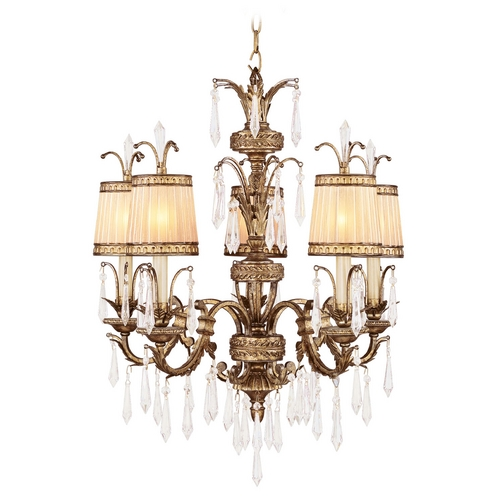 Livex Lighting Livex Lighting La Bella Vintage Gold Leaf Crystal Chandelier 8805-65