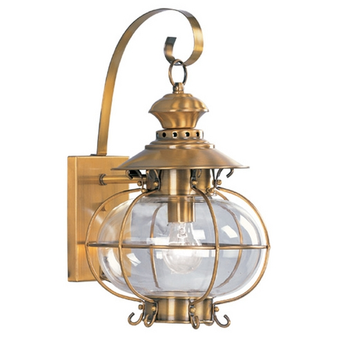 Livex Lighting Livex Lighting Harbor Flemish Brass Outdoor Wall Light 2222-22