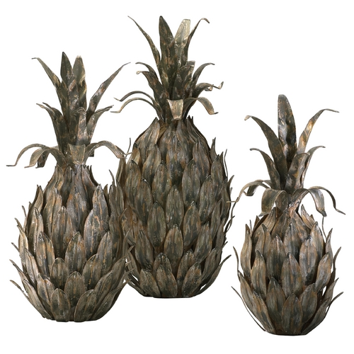 Cyan Design Cyan Design Pineapples Multi-Color Sculpture 01254