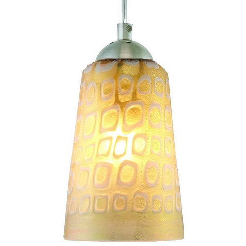 Oggetti Lighting Oggetti Lighting Carnivale Satin Nickel Mini-Pendant Light with Cylindrical Shade 22-212B